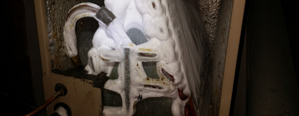 An ice-covered air conditioning coil can indicate that you have an HVAC system problem.