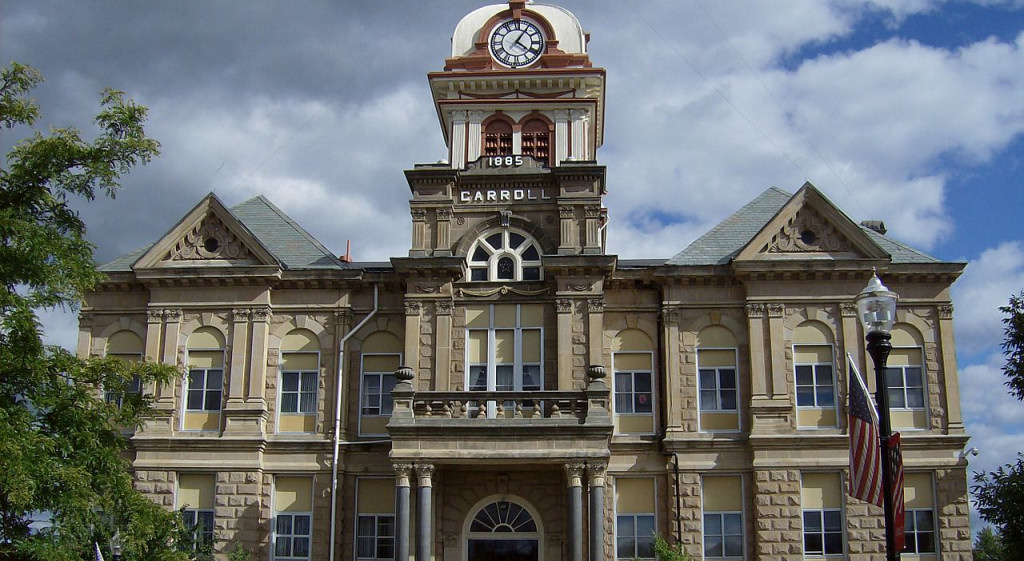 Carroll County Courthouse in Carrollton Ohio | photo by Nyttend